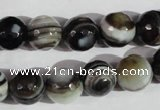 CAG1405 15.5 inches 12mm faceted round line agate gemstone beads