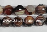 CAG1415 15.5 inches 12mm faceted round line agate gemstone beads
