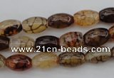 CAG1451 15.5 inches 8*12mm rice dragon veins agate beads