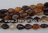 CAG1469 15.5 inches 6*8mm flat teardrop dragon veins agate beads