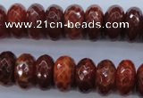 CAG1493 15.5 inches 8*16mm faceted rondelle natural fire agate beads