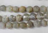 CAG1505 15.5 inches 8mm faceted round fire crackle agate beads