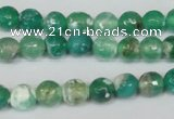 CAG1509 15.5 inches 8mm faceted round fire crackle agate beads