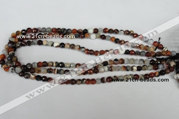 CAG1515 15.5 inches 8mm faceted round fire crackle agate beads