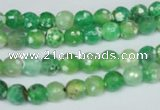 CAG1516 15.5 inches 8mm faceted round fire crackle agate beads