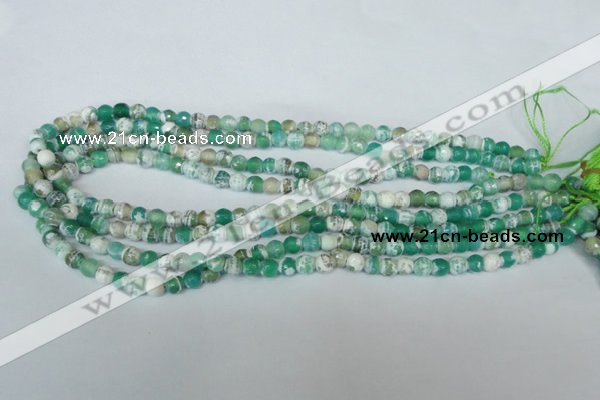 CAG1517 15.5 inches 8mm faceted round fire crackle agate beads
