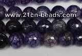 CAG1529 15.5 inches 10mm faceted round fire crackle agate beads