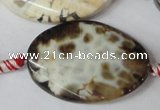 CAG1580 15.5 inches 25*35mm twisted oval fire crackle agate beads