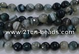CAG1635 15.5 inches 6mm faceted round blue agate gemstone beads