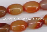 CAG1647 15.5 inches 15*20mm rice red agate gemstone beads