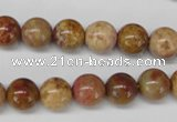 CAG1744 15.5 inches 10mm round golden agate beads wholesale