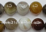 CAG1826 15.5 inches 16mm round Chinese botswana agate beads