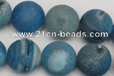 CAG1858 15.5 inches 18mm round matte druzy agate beads whholesale