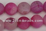 CAG1866 15.5 inches 16mm round matte druzy agate beads whholesale