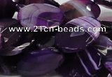 CAG208 15.5 inches 18*25mm faceted oval purple agate gemstone beads