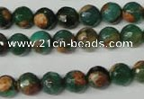 CAG2222 15.5 inches 8mm faceted round fire crackle agate beads