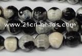 CAG2243 15.5 inches 10mm faceted round fire crackle agate beads