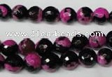 CAG2262 15.5 inches 8mm faceted round fire crackle agate beads
