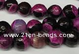 CAG2263 15.5 inches 10mm faceted round fire crackle agate beads