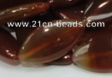 CAG227 15.5 inches 16*30mm marquise red agate gemstone beads