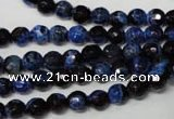 CAG2271 15.5 inches 6mm faceted round fire crackle agate beads