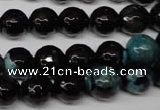 CAG2284 15.5 inches 12mm faceted round fire crackle agate beads
