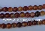 CAG2321 15.5 inches 6mm round red line agate beads wholesale