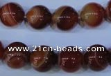 CAG2324 15.5 inches 12mmround red line agate beads wholesale