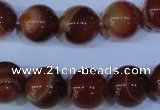 CAG2325 15.5 inches 14mmround red line agate beads wholesale