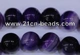 CAG2334 15.5 inches 12mm round violet line agate beads wholesale