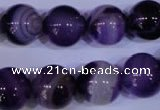 CAG2335 15.5 inches 14mm round violet line agate beads wholesale