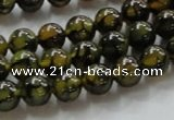 CAG234 15.5 inches 8mm round dragon veins agate gemstone beads