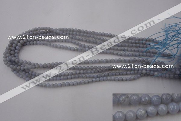 CAG2365 15.5 inches 4mm round blue lace agate beads wholesale