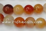 CAG2375 15.5 inches 12mm round red agate beads wholesale