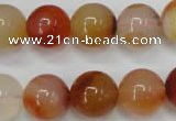 CAG2376 15.5 inches 14mm round red agate beads wholesale