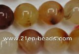 CAG2378 15.5 inches 18mm round red agate beads wholesale