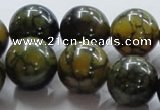 CAG238 15.5 inches 18mm round dragon veins agate gemstone beads