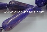 CAG250 15.5 inches 15*40mm teardrop dragon veins agate beads