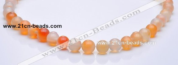 CAG264 10mm round agate gemstone beads Wholesale