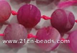 CAG2805 15.5 inches 18mm round matte druzy agate beads whholesale