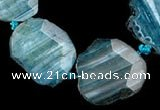 CAG328 16 inch nugget shape rough agate gemstone beads Wholesale