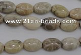 CAG3901 15.5 inches 8*12mm oval chrysanthemum agate beads