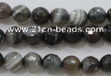 CAG3951 15.5 inches 6mm faceted round grey botswana agate beads