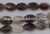 CAG3990 15.5 inches 8*12mm faceted oval botswana agate gemstone beads