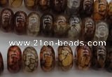 CAG4119 15.5 inches 8*15mm rondelle dragon veins agate beads