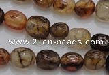 CAG4139 15.5 inches 6*8mm nuggets dragon veins agate beads