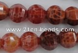 CAG4171 15.5 inches 14mm pumpkin natural fire agate beads