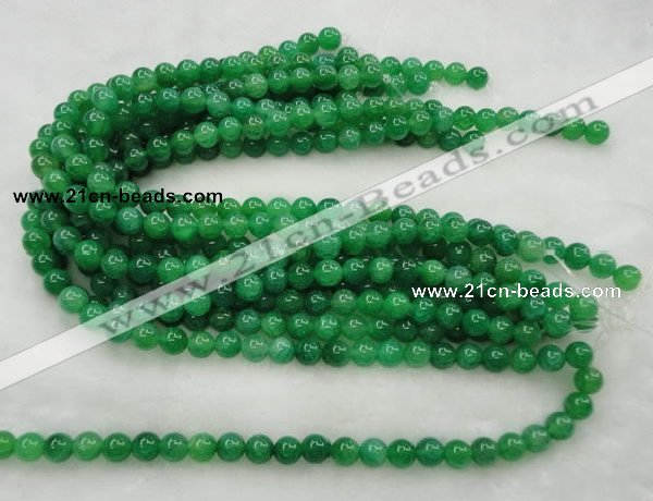 CAG420 15.5 inches 10mm round green agate beads Wholesale