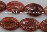 CAG4216 15.5 inches 18*25mm oval natural fire agate beads