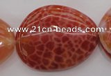 CAG4233 15.5 inches 28*40mm - 33*45mm freeform natural fire agate beads
